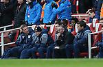 Aston Villa's Paul Lambert looks on dejected<br /> <br /> Barclays Premier League - Arsenal vs Aston Villa - Emirates Stadium  - England - 1st February 2015 - Picture David Klein/Sportimage