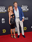 HOLLYWOOD, CA - JULY 14: David Hasselhoff (R) and Hayley Roberts arrive at the Comedy Central Roast Of Bruce Willis at the Hollywood Palladium on July 14, 2018 in Los Angeles, California.