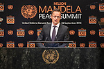 Opening Plenary Meeting of the Nelson Mandela Peace Summit<br /> <br /> His Excellency Peter SZIJJARTOMinister for Foreign Affairs and Trade of Hungary