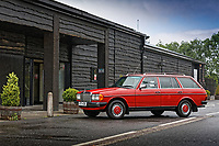 2018 06 19 Mercedes W123 at Penderyn Distillery, Wales, UK