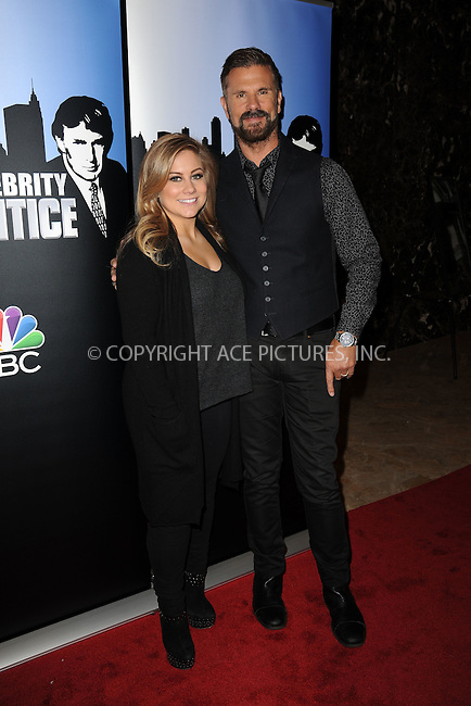 WWW.ACEPIXS.COM<br /> January 20, 2015 New York City<br /> <br /> Shawn Johnson and Lorenzo Lamas attend 'Celebrity Apprentice' Red Carpet Event at Trump Tower on January 20, 2015 in New York City<br /> <br /> Please byline: Kristin Callahan/AcePictures<br /> <br /> ACEPIXS.COM<br /> <br /> Tel: (212) 243 8787 or (646) 769 0430<br /> e-mail: info@acepixs.com<br /> web: http://www.acepixs.com