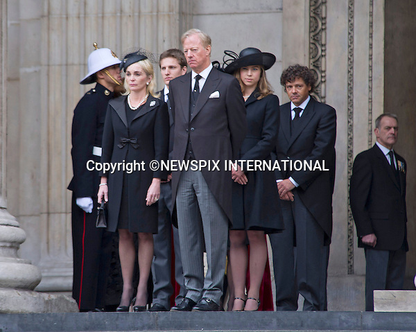 "MARGARET THATCHER FUNERAL.The funeral of Lady Thatcher, Britain's former Prime Minister who died last week aged 87-years-old, St Paul's Cathedral, London_17/04/2013.Mandatory credit photo:©Dias/NEWSPIX INTERNATIONAL..**ALL FEES PAYABLE TO: ""NEWSPIX INTERNATIONAL""**..PHOTO CREDIT MANDATORY!!: NEWSPIX INTERNATIONAL(Failure to credit will incur a surcharge of 100% of reproduction fees)..IMMEDIATE CONFIRMATION OF USAGE REQUIRED:.Newspix International, 31 Chinnery Hill, Bishop's Stortford, ENGLAND CM23 3PS.Tel:+441279 324672  ; Fax: +441279656877.Mobile:  0777568 1153.e-mail: info@newspixinternational.co.uk"