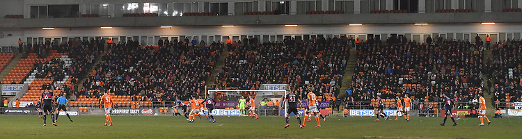 The fans return to the stands after years away.<br /> <br /> Photographer Dave Howarth/CameraSport<br /> <br /> The EFL Sky Bet League One - Blackpool v Doncaster Rovers - Tuesday 12th March 2019 - Bloomfield Road - Blackpool<br /> <br /> World Copyright © 2019 CameraSport. All rights reserved. 43 Linden Ave. Countesthorpe. Leicester. England. LE8 5PG - Tel: +44 (0) 116 277 4147 - admin@camerasport.com - www.camerasport.com