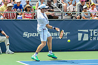 Washington, DC - August 3, 2019:  John Peers (AUS) returns a ball during the  Men Doubles semi finals at William H.G. FitzGerald Tennis Center in Washington, DC  August 3, 2019.  (Photo by Elliott Brown/Media Images International)