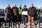 Bridie Uí Gearailt, Mike Highway O'Connor, Breandan Mac Gearailt, Paidi Graham and Carl O'Flahery (all from Dingle) protesting the objection by An Taisce to upgrade the N86 road in Dingle on Saturday noon.
