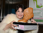 "Another World and all AMC Soaps Linda Dano holding a Delman boot she bought along with other shoes at QVC presents ""FFANY SHOES ON SALE"" at Frederick P. Rose Hall, Home of Jazz at Lincoln Center on October 13, 2010 in New York City, New York. (Photo By Sue Coflin/Max Photos)"