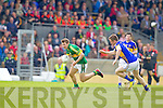 James O'Donoghue, Kerry in action against John Coghlan, Tipperary in the first round of the Munster Football Championship at Fitzgerald Stadium on Sunday.