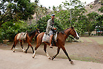 horseman near Vaipaee on Island  Ua Huka cavalier pres de Vaipaee sur lile de Ua Huka
