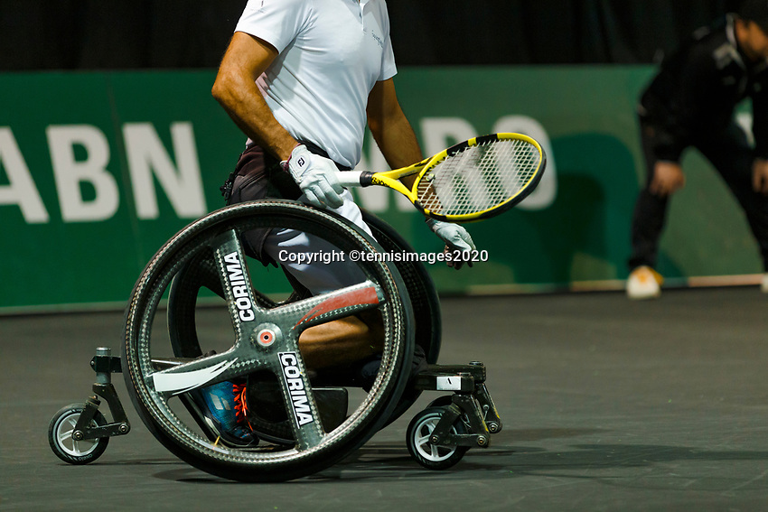 Rotterdam, The Netherlands, 14 Februari 2020, ABNAMRO World Tennis Tournament, Ahoy, Wheelchair: Stephane Houdet (FRA).<br /> Photo: www.tennisimages.com