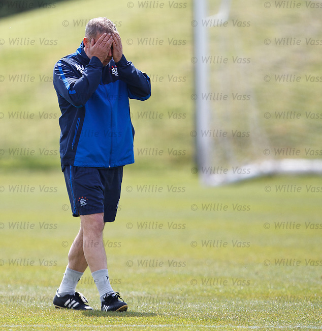 Ally McCoist feeling the presure as he walks out to training
