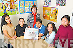 Vicky Cionelo, Geraldine Celestial, Melvin Miguel, Marilyn Catapat-Counihan and Maria Culibra with Joni Kelly (KASI family support worker) in the KASI centre, Beech Road Killarney