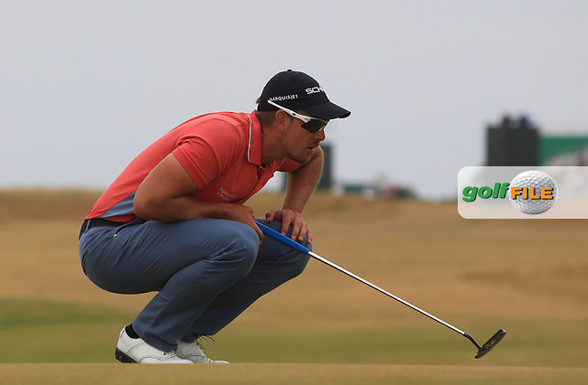 Henrik STENSON (SWE)during round 4 of  The 142th Open Championship Muirfield, Gullane, East Lothian, Scotland 21/7/2013<br /> Picture Fran Caffrey www.golffile.ie: