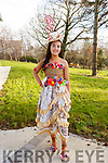 Isabelle Crowe of Mercy Mounthawk wearing her creation for the upcoming Junk Kouture finals in Limerick.