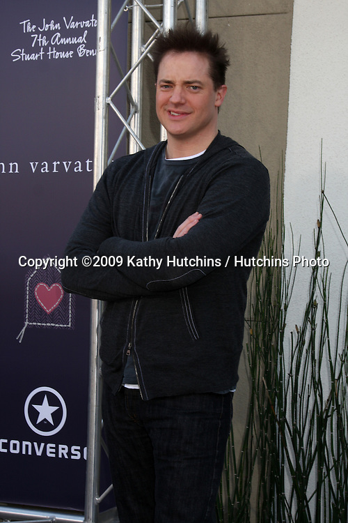 Brendan Fraser arriving at the 7th Annual John Varvatos Stuart House Benefit at the John Varvatos Store in West Hollywood, CA  on.March 8, 2009.©2009 Kathy Hutchins / Hutchins Photo...                .