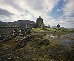 Eilean Donan Castle, built on a small island at the meeting point of Lochs Duich, Alsh and Long by Alexander II of Scotland in 1220, Scotland, United Kingdom, Europe