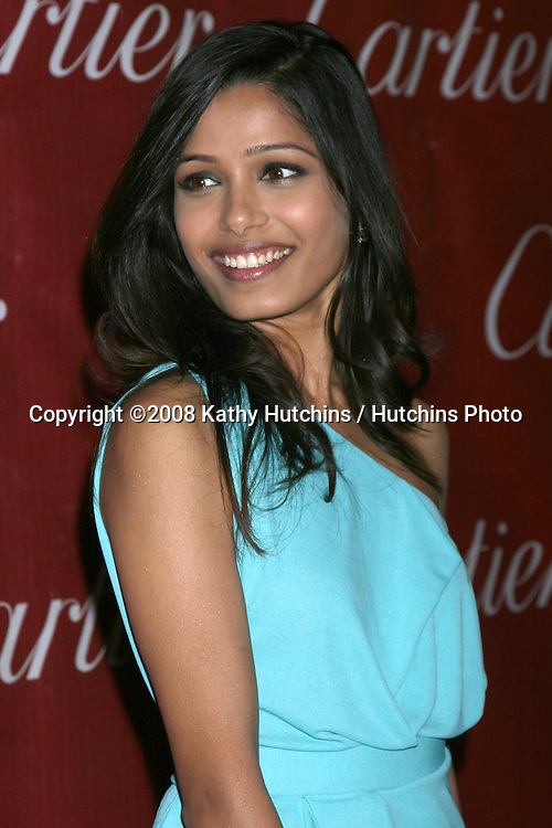 Freida Pinto arriving at the 20th Annual Palm Springs Film Festival Awards Gala at the Palm Springs Convention Center in Palm Springs, CA on .January 6, 2009.©2008 Kathy Hutchins / Hutchins Photo..                .