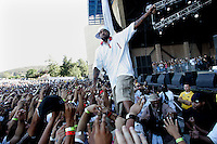 LOS ANGELES,CA - AUGUST 09,2008: Method Man brings it to his fans. Glen Helen Pavilion was filled with hip hop fans August 9, 2008 for Rock the Bells concert.