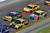 Monster Energy NASCAR Cup Series<br /> Daytona 500<br /> Daytona International Speedway, Daytona Beach, FL USA<br /> Sunday 18 February 2018<br /> Erik Jones, Joe Gibbs Racing, DEWALT Toyota Camry, Ryan Newman, Richard Childress Racing, Bass Pro Shops / Cabela's Chevrolet Camaro, Kyle Busch, Joe Gibbs Racing, M&amp;M's Toyota Camry, Joey Logano, Team Penske, Shell Pennzoil Ford Fusion<br /> World Copyright: Logan Whitton<br /> LAT Images