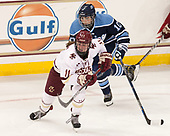 Caitrin Lonergan (BC - 11), Jessica Jacques (Maine - 10) - The Boston College Eagles defeated the visiting University of Maine Black Bears 2-1 on Saturday, October 8, 2016, at Kelley Rink in Conte Forum in Chestnut Hill, Massachusetts.  The University of North Dakota Fighting Hawks celebrate their 2016 D1 national championship win on Saturday, April 9, 2016, at Amalie Arena in Tampa, Florida.