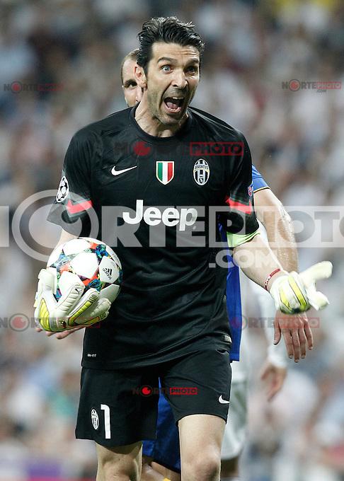 Juventus' Gianluigi Buffon during Champions League 2014/2015 Semi-finals 2nd leg match.May 13,2015. (ALTERPHOTOS/Acero) /NortePhoto.COM