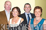 ENJOYABLE: Having a ball at the Annual Lee Strand Social in the Brandon Hotel Conference Centre, Tralee on Saturday night were l-r: Johnny and Breeda Switzer, Christy and Geraldine Counihan (Tralee)..   Copyright Kerry's Eye 2008