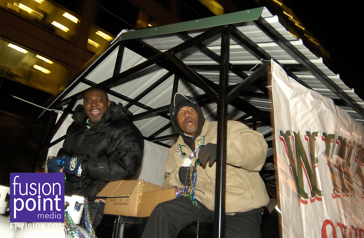 GMAC Bowl.Mardi Gras Parade and Pep Rally.Jan. 5, 2010