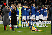5th November 2017, Goodison Park, Liverpool, England; EPL Premier League Football, Everton versus Watford; The Everton players observe a minute's silence before today's game in memory of next weekend's Armistice Day events