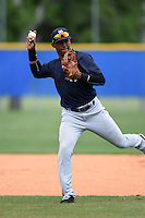 New York Yankees Abiatal Avelino (22) during practice before a minor league spring training game against the Toronto Blue Jays on March 24, 2015 at the Englebert Complex in Dunedin, Florida.  (Mike Janes/Four Seam Images)