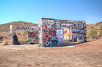 Cadiz Summit on Route 66 in California is located at the top of the pass through the desert mountains.  There are the ruins of a Gas Station an repair shop, Cafe and cabins.