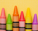 Studio shot of multicolored crayons