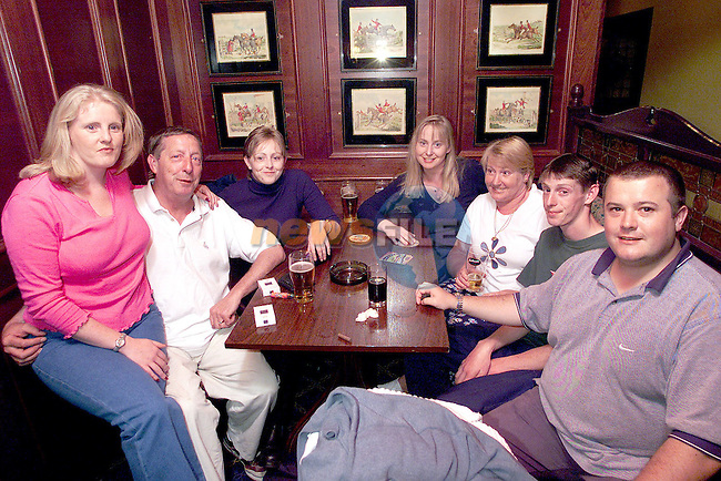 Brendan Keys (2nd from left), Smithstown who celebrated his 60th Birthday in the Monasterboice Inn. Pictured are from left daughters Ursula, Paula and Catherine, wife Paula, son Hugh and son in law Duncan.Picture Paul Mohan Newsfile