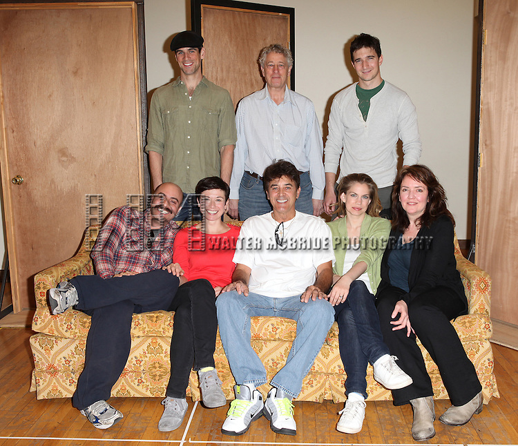 "Eddie Cahill, Bill Buell, Jake Silbermann, David Adjmi, Hannah Cabell, Deney Terrio, Anna Chlumsky, Jackson Gay.attending the Meet & Greet the Cast and Creators of David Adjmi's ""3C"" at the MTC Rehearsal Studios in New York City on 5/8/2012.."