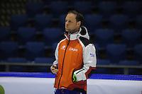 SCHAATSEN: HEERENVEEN: 21-03-2014, IJsstadion Thialf, Training WK Allround, Trainer/coach Johan de Wit, ©foto Martin de Jong