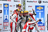 IMSA WeatherTech SportsCar Championship<br /> Chevrolet Sports Car Classic<br /> Detroit Belle Isle Grand Prix, Detroit, MI USA<br /> Saturday 3 June 2017<br /> 63, Ferrari, Ferrari 488 GT3, GTD, Alessandro Balzan, Christina Nielsen, 93, Acura, Acura NSX, GTD, Andy Lally, Katherine Legge, 48, Lamborghini, Lamborghini Huracan GT3, GTD, Bryan Sellers, Madison Snow<br /> World Copyright: Richard Dole<br /> LAT Images<br /> ref: Digital Image RD_DTW_17_0408