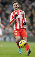 Atletico de Madrid's Adrian Lopez during La Liga Match. December 02, 2012. (ALTERPHOTOS/Alvaro Hernandez)