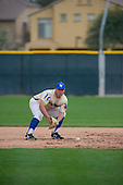 Jesse Garcia (17) of Grossmont High School in El Cajon, California during the Under Armour All-American Pre-Season Tournament presented by Baseball Factory on January 15, 2017 at Sloan Park in Mesa, Arizona.  (Zac Lucy/Mike Janes Photography)