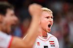 13.09.2019, Paleis 12, BrŸssel / Bruessel<br />Volleyball, Europameisterschaft, Belgien (BEL) vs. …sterreich / Oesterreich (AUT)<br /><br />Jubel Thomas Tršthann / Troethann (#5 AUT)<br /><br />  Foto © nordphoto / Kurth