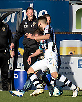 Animated Kevin Nolan manager of Notts County during the Sky Bet League 2 match between Wycombe Wanderers and Notts County at Adams Park, High Wycombe, England on the 25th March 2017. Photo by Liam McAvoy.