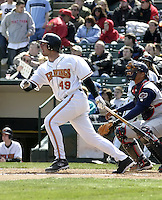 April 10, 2004:  Josh Rabe of the Rochester Red Wings, Triple-A International League affiliate of the Minnesota Twins, during a game at Frontier Field in Rochester, NY.  Photo by:  Mike Janes/Four Seam Images