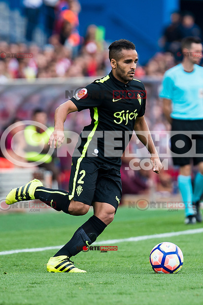 Sporting de Gijon's Douglas during a match of La Liga Santander at Vicente Calderon Stadium in Madrid. September 17, Spain. 2016. (ALTERPHOTOS/BorjaB.Hojas) /NORTEPHOTO