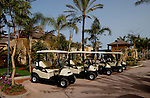 Golf carts at Abama golf course.Tenerife. Canary Islands, Spain,Tenerife. Canary Islands, Spain
