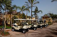 Golf carts at Abama golf course.Tenerife. Canary Islands, Spain,Tenerife. Canary Islands, Spain