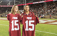 STANFORD, CA - October 15, 2015: The Stanford Cardinal vs the UCLA Bruins at Stanford Stadium in Sanford, CA. Final score Stanford 56, UCLA Bruins 35.