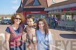 Audrey, Senan and Aoife O'Leary shopping in Park Road Killarney on Thursday