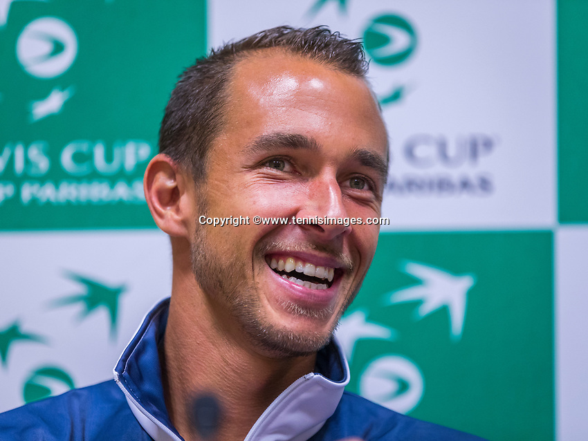 The Hague, The Netherlands, September 12, 2017,  Sportcampus , Davis Cup Netherlands - Chech Republic, Pre Draw press conference, Chech  team, Lucas Rosol (CZE)<br /> Photo: Tennisimages/Henk Koster