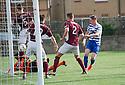 Morton's Declan McManus scores their first goal.