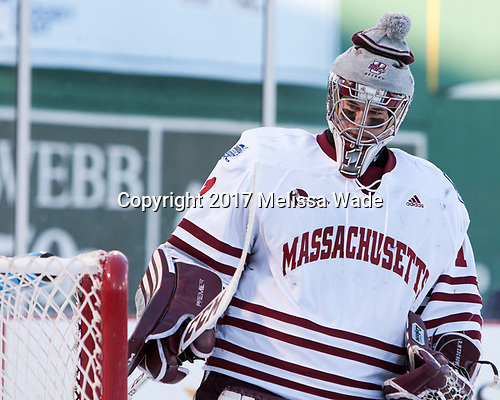 Ryan Wischow (UMass - 1) - The Boston University Terriers defeated the University of Massachusetts Minutemen 5-3 on Sunday, January 8, 2017, at Fenway Park in Boston, Massachusetts.The Boston University Terriers defeated the University of Massachusetts Minutemen 5-3 on Sunday, January 8, 2017, at Fenway Park.