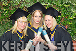 The first graduates of the new Wildlife Biology course pictured at the ITT graduations in the Brandon Hotel on Friday, from left: Sheila Kennedy (Tralee), Sarah and Alice McDonald from Tarbert.
