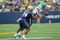 Annapolis, MD - October 26, 2019: Tulane Green Wave cornerback Thakarius Keyes (26) drops an interception during the game between Tulane and Navy at  Navy-Marine Corps Memorial Stadium in Annapolis, MD.   (Photo by Elliott Brown/Media Images International)