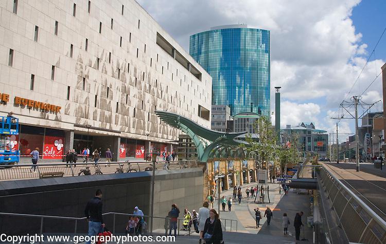 Beurstraverse below ground level shopping centre, Rotterdam, Netherlands